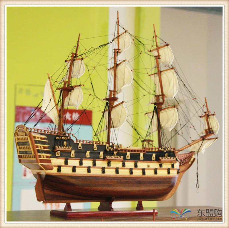 越南 一帆风顺 实木帆船摆件  0206021图片一