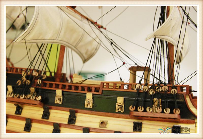 越南 一帆风顺 实木帆船摆件  0206021图片四