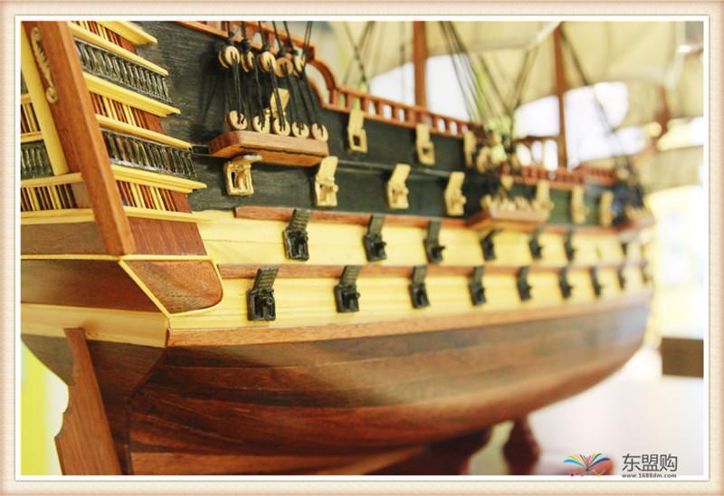 越南 一帆风顺 实木帆船摆件  0206021图片三