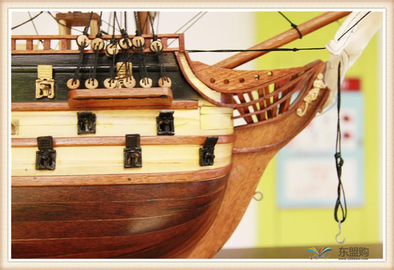 越南 一帆风顺 实木帆船摆件  0206021图片五