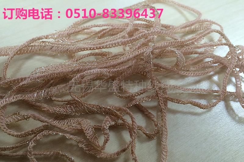 【低价出售】厂家直销5N晴尼金丝带子纱 花式纱图片一