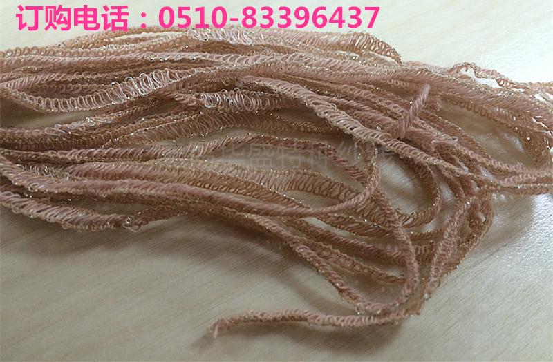 【低价出售】厂家直销5N晴尼金丝带子纱 花式纱图片二