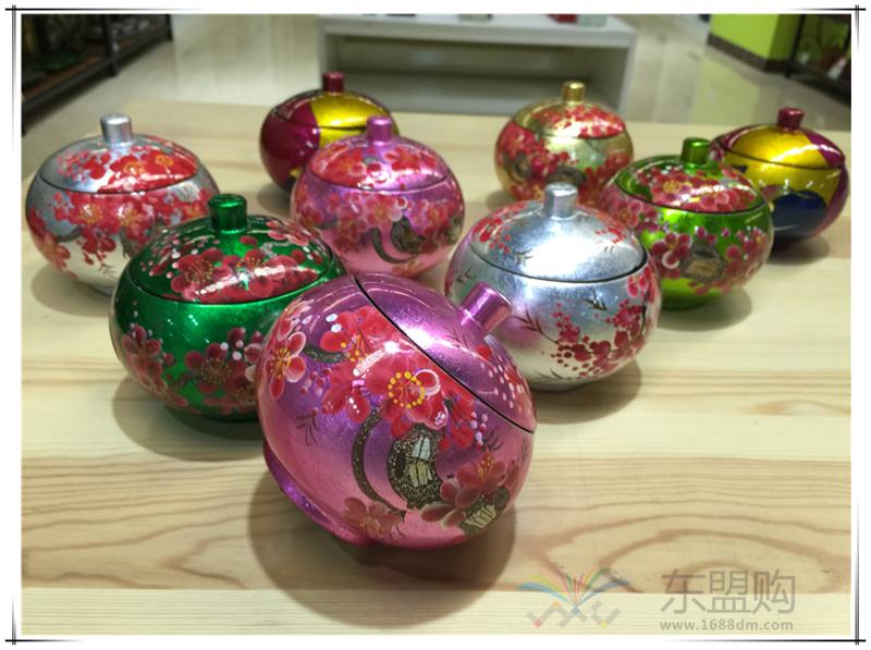 越南 苹果漆画罐  0206049图片三
