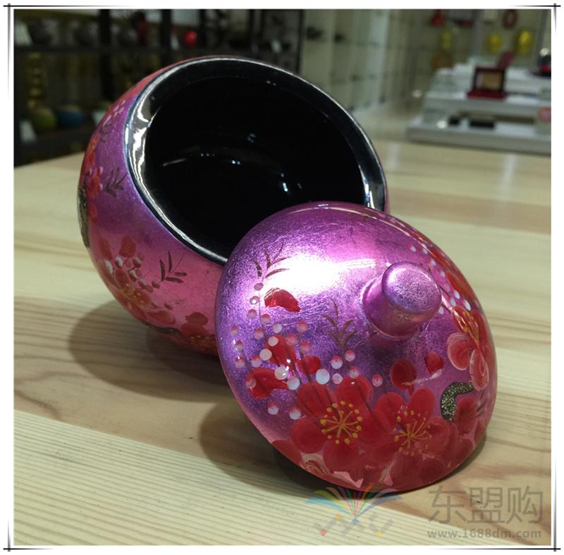 越南 苹果漆画罐  0206049图片六