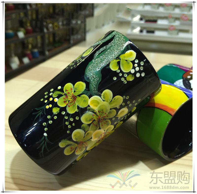 越南 漆画笔筒  0206045图片二