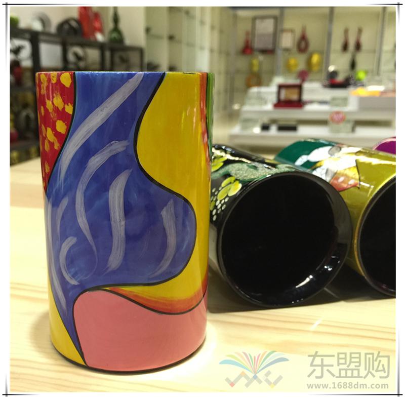 越南 漆画笔筒  0206045图片五