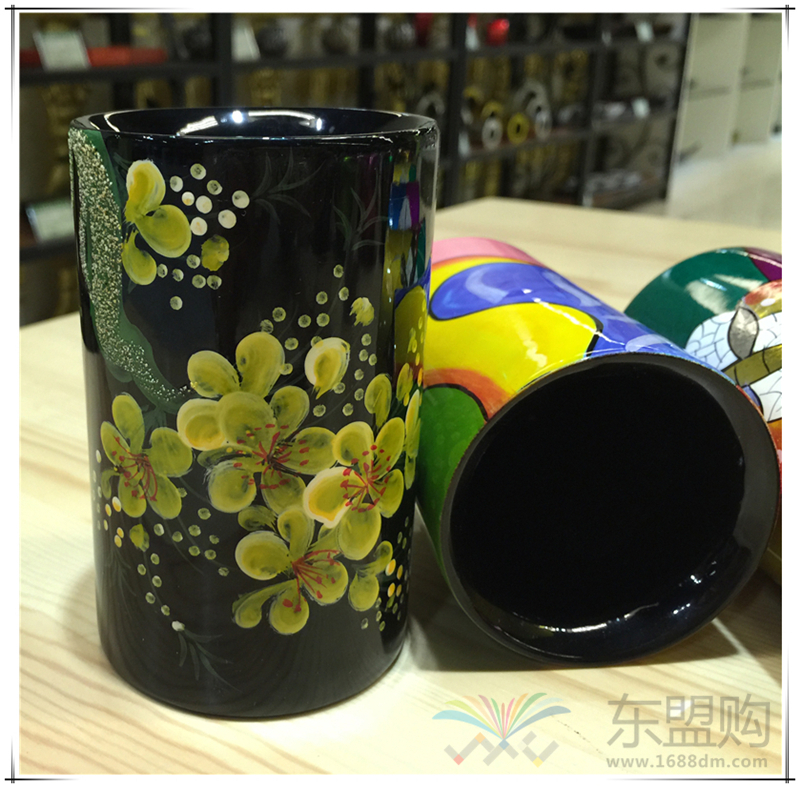 越南 漆画笔筒  0206045图片七