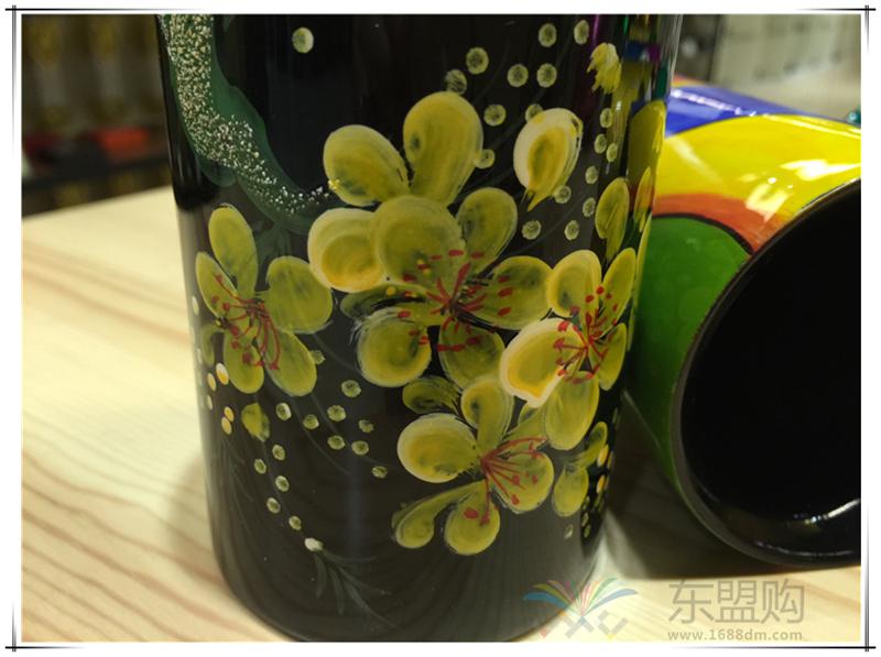 越南 漆画笔筒  0206045图片八