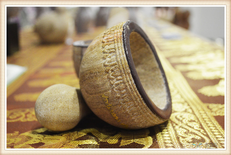 柬埔寨 砂石传统碾磨钵体 柬埔寨工艺品 居家用品 0205236图片六