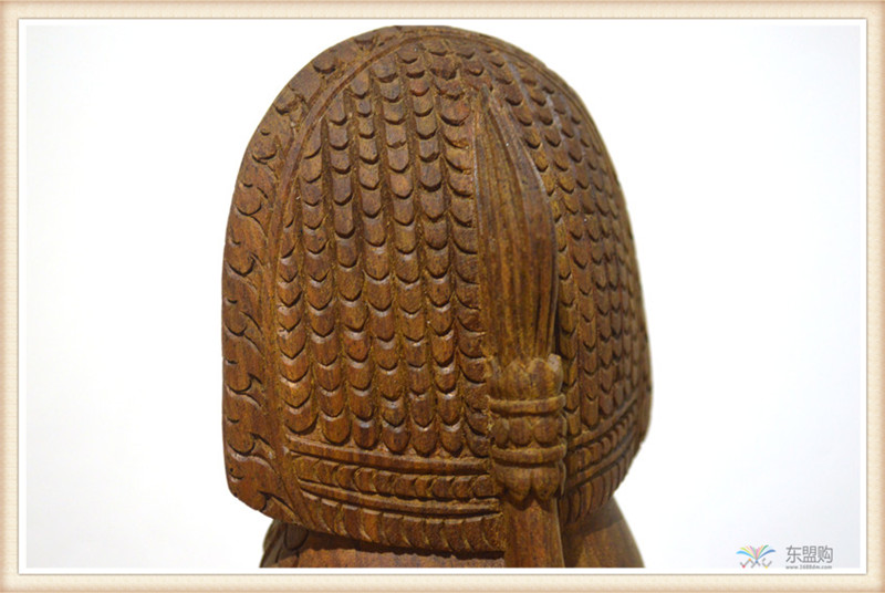 柬埔寨 手工雕小武哥狮子工艺品 工艺品摆件 0203659图片六