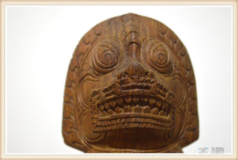 柬埔寨 手工雕小武哥狮子工艺品 工艺品摆件 0203659图片八