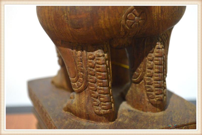 柬埔寨 手工雕小武哥狮子工艺品 工艺品摆件 0203659图片五