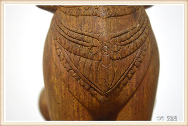 柬埔寨 手工雕小武哥狮子工艺品 工艺品摆件 0203659图片九