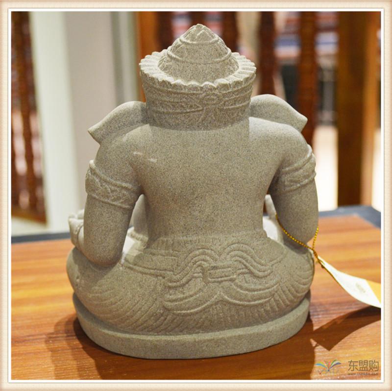 柬埔寨 砂岩雕智慧象神 0203654图片四