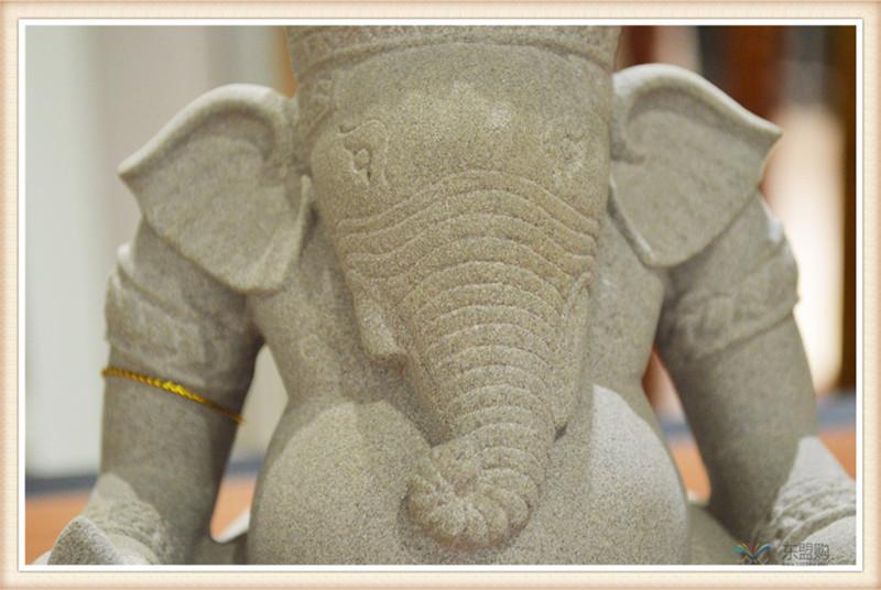 柬埔寨 砂岩雕智慧象神 0203654图片七