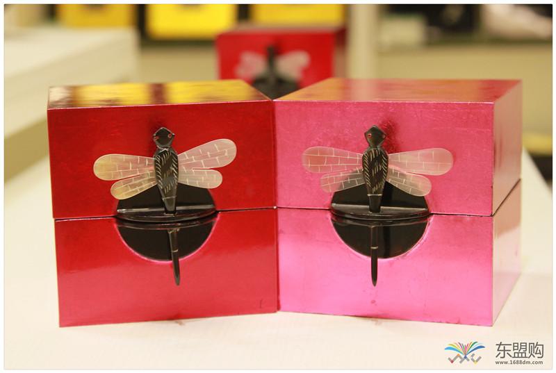 越南 漆器蜻蜓栓首饰盒 0202872图片二