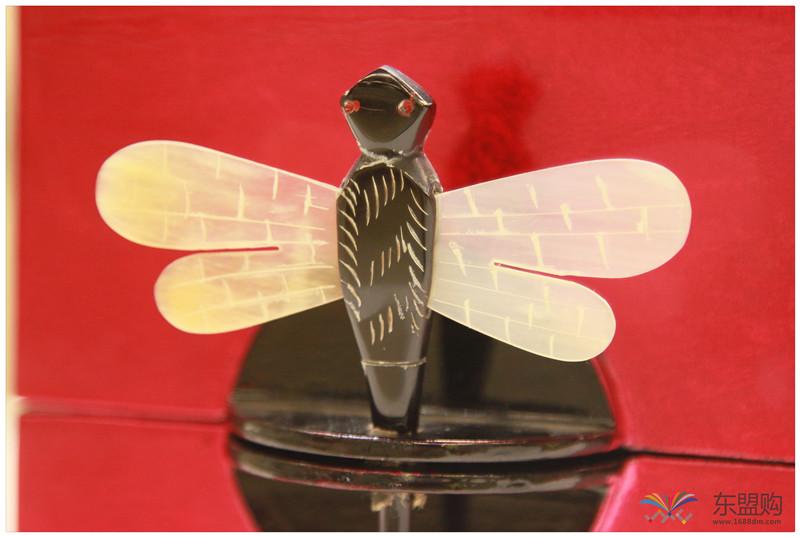 越南 漆器蜻蜓栓首饰盒 0202872图片四