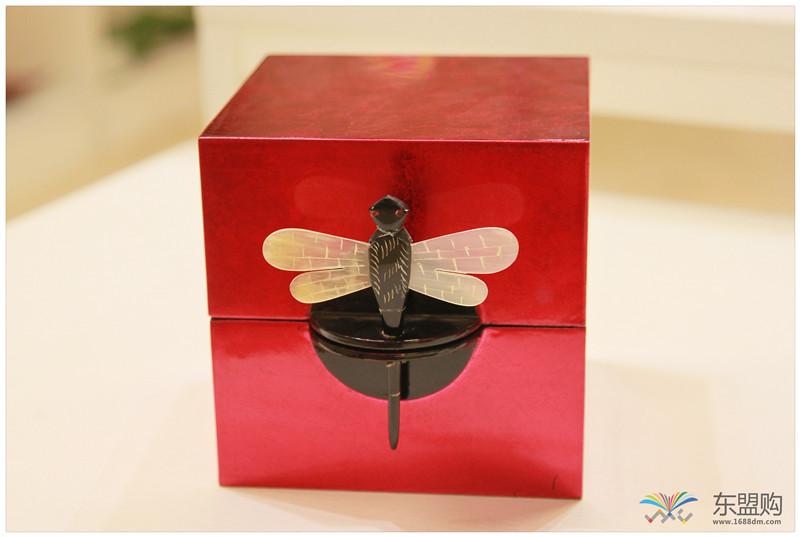 越南 漆器蜻蜓栓首饰盒 0202872图片三