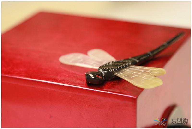 越南 漆器蜻蜓栓首饰盒 0202872图片五