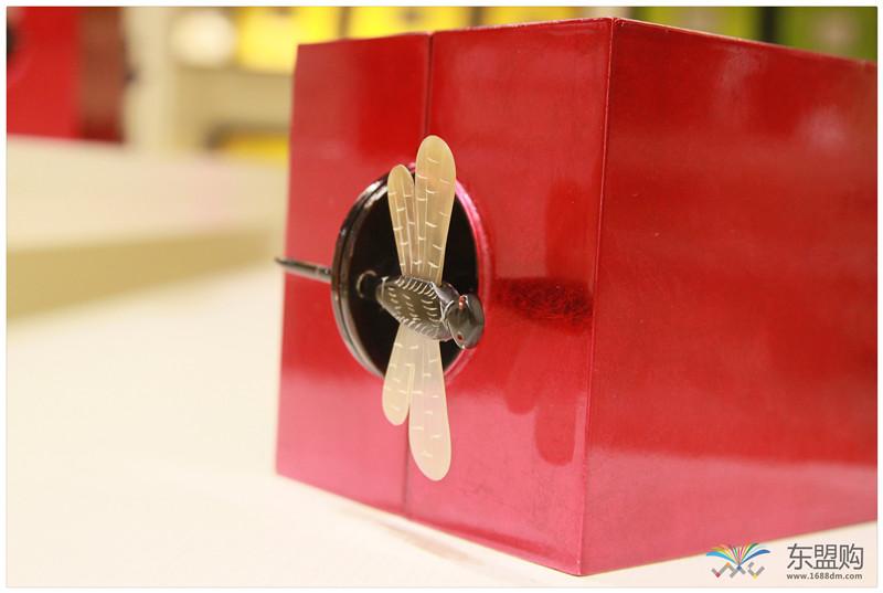 越南 漆器蜻蜓栓首饰盒 0202872图片八