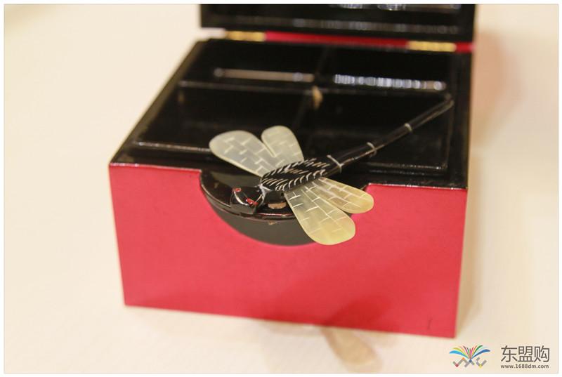越南 漆器蜻蜓栓首饰盒 0202872图片九