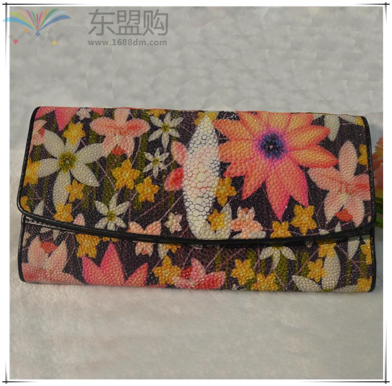 泰国 钱包珍珠鱼皮钱包(整皮) 0207486图片二