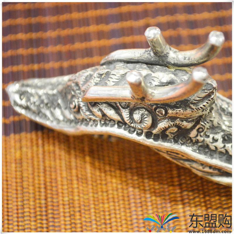 柬埔寨 银质雕花锅铲 0202284图片四