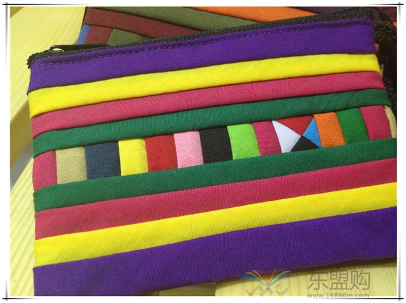 柬埔寨 七月彩条格零钱小包 0201730图片八
