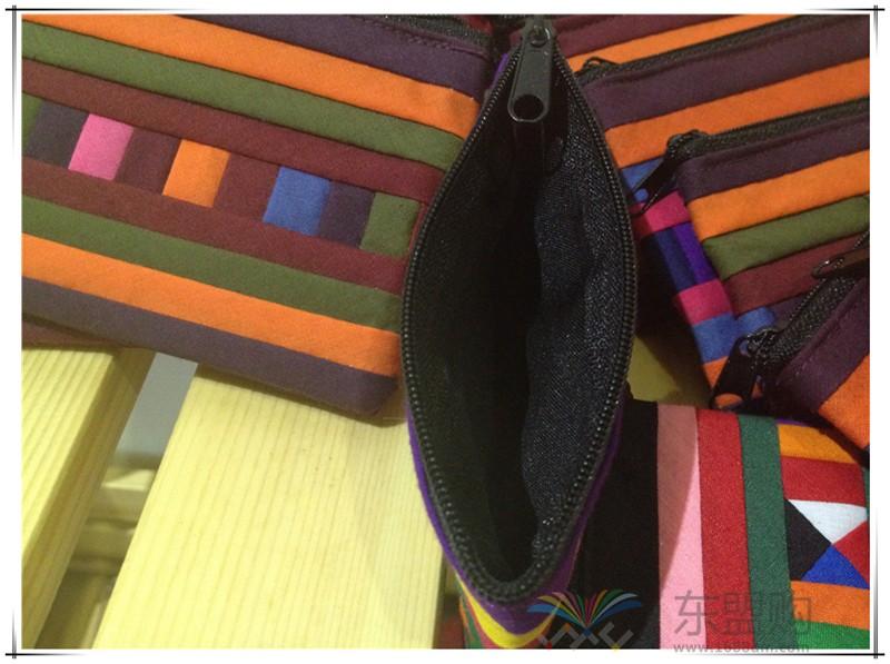 柬埔寨 七月彩条格零钱小包 0201730图片九