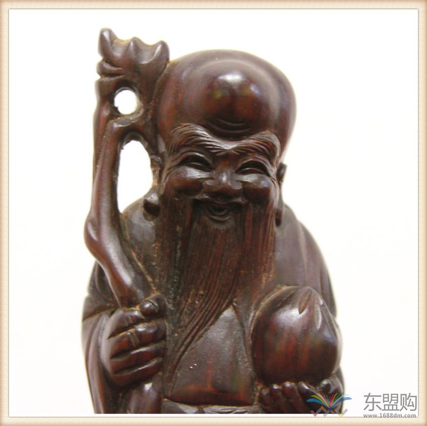 老挝 酸枝木雕福禄寿三件套 0202804图片六