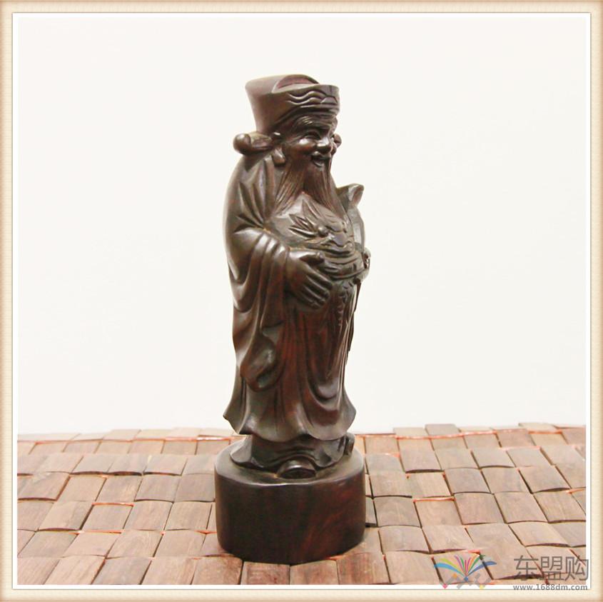 老挝 酸枝木雕福禄寿三件套 0202804图片九