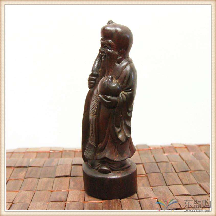 老挝 酸枝木雕福禄寿三件套 0202804图片四