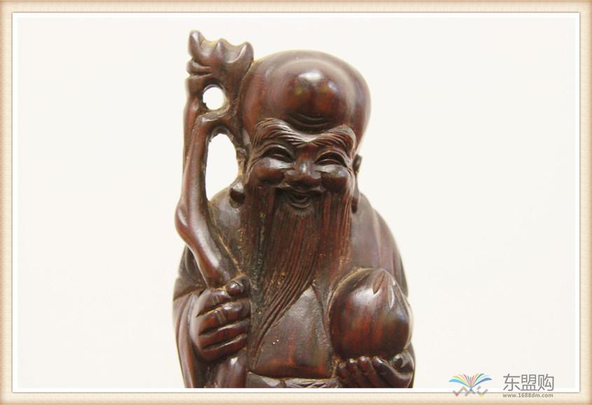 老挝 酸枝木雕福禄寿三件套 0202804图片七