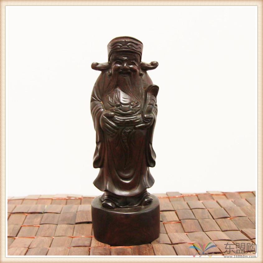 老挝 酸枝木雕福禄寿三件套 0202804图片八
