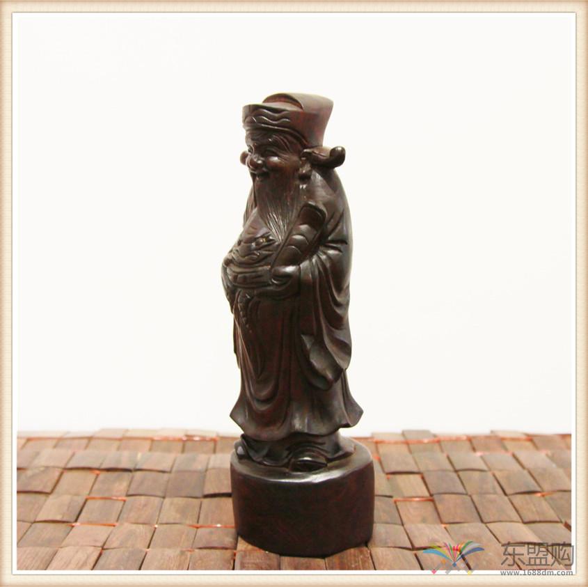 老挝 酸枝木雕福禄寿三件套 0202804图片十