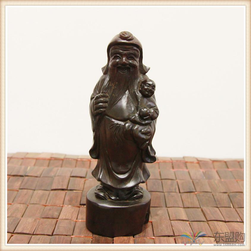 老挝 酸枝木雕福禄寿三件套 0202804图片十二