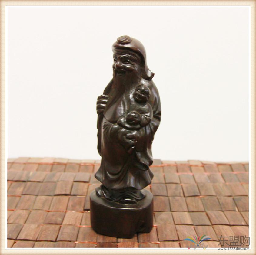 老挝 酸枝木雕福禄寿三件套 0202804图片十三