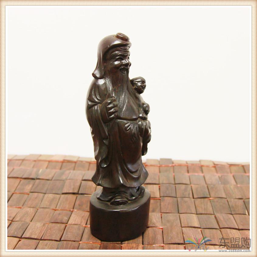 老挝 酸枝木雕福禄寿三件套 0202804图片十五
