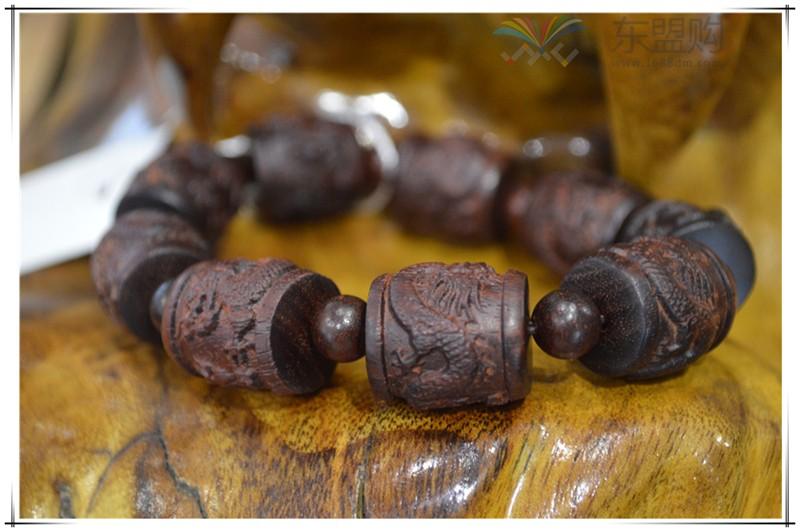 老挝 紫檀龙珠手串 0203248图片五