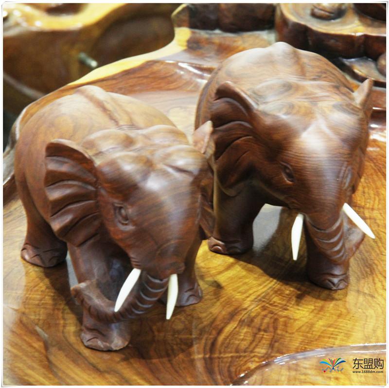 老挝 草花梨小象 0203150图片四