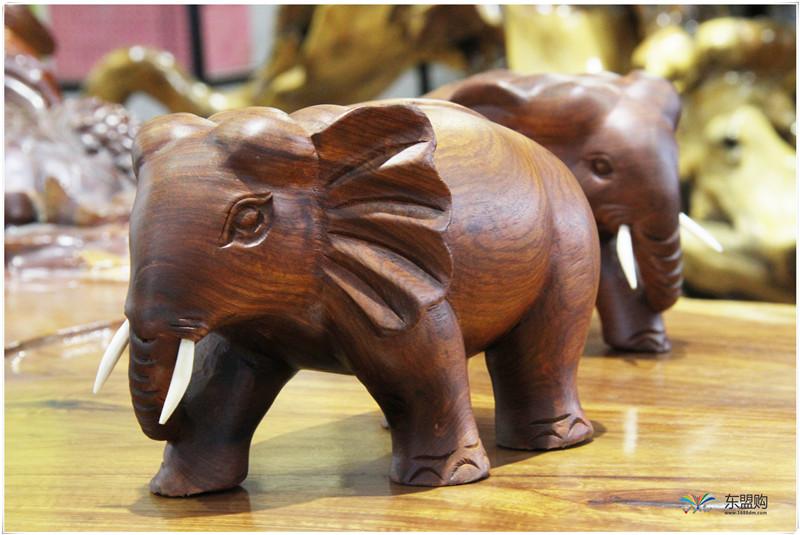 老挝 草花梨小象 0203150图片六