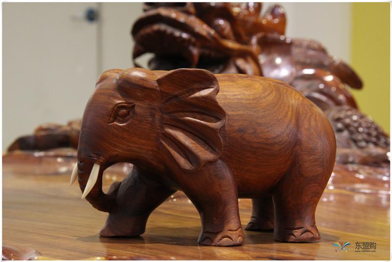 老挝 草花梨小象 0203150图片八