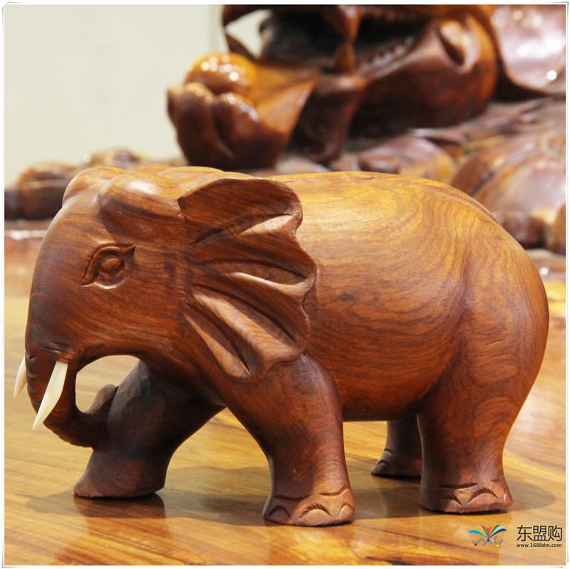 老挝 草花梨小象 0203150图片七