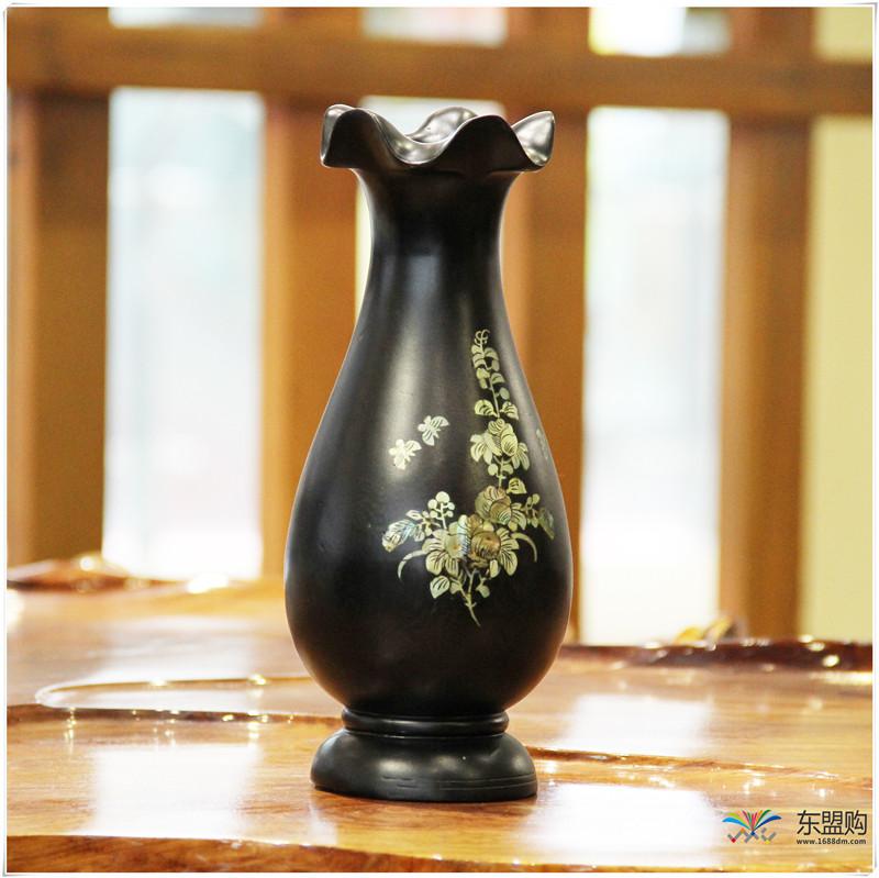 老挝 乌木花瓶 0202768图片三