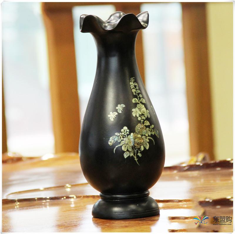 老挝 乌木花瓶 0202768图片四