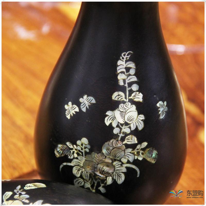 老挝 乌木花瓶 0202768图片十