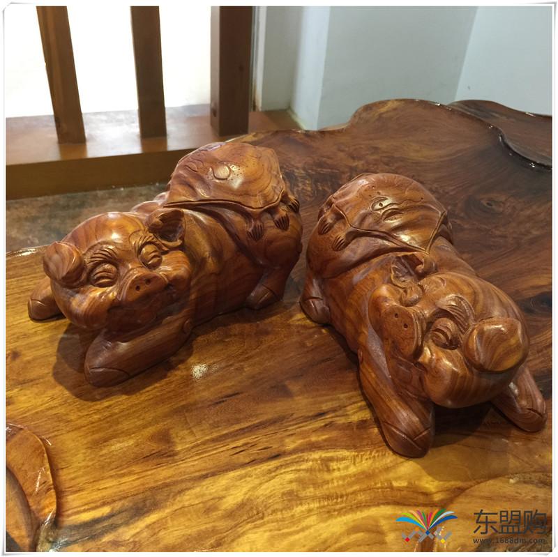老挝 草花梨招财猪 0206831图片二