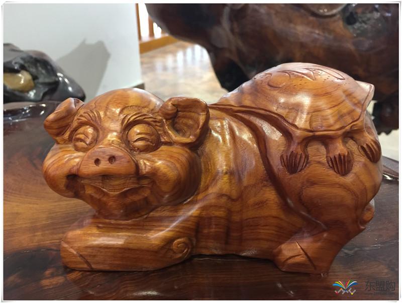 老挝 草花梨招财猪 0206831图片十