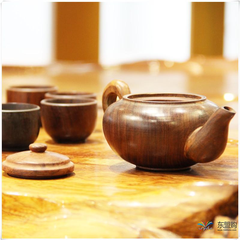 老挝 酸枝茶壶6件套(小)0207459图片五