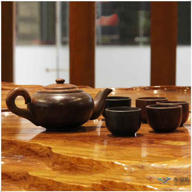 老挝 酸枝茶壶6件套(小)0207459图片四